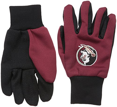 Forever Collectibles NCAA College farbigen Palm Utility Handschuh, Unisex, Florida State Seminoles (Fußball-handschuhe Farbige)