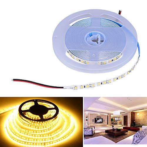 Arotelicht LED Strip 600 LEDs 5M 2835SMD Band Leiste Streifen Lichterkette Stripe Lichtleiste TV Innen Treppenlicht Deko Lichter,warmweiß, nicht wasserdicht IP20, 12V, 120LEDs/M