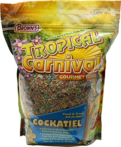 F.M. Brown's Tropical Carnival Gourmet Cockatiel Bird Food, 3-Pound by F.M. Brown's -