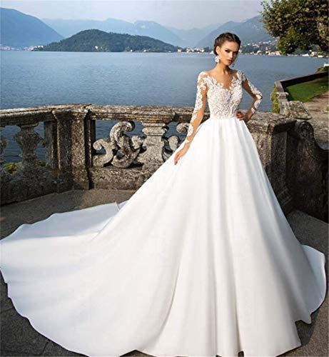 MEILV Frau Hochzeitskleider Elegant Brautkleid Satin- Spitze Sexy Abendkleid Kleid Der Brautjungfer...