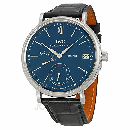 IWC IWC PORTOFINO BLUE DIAL BLACK LEATHER MENS WATCH IW510106