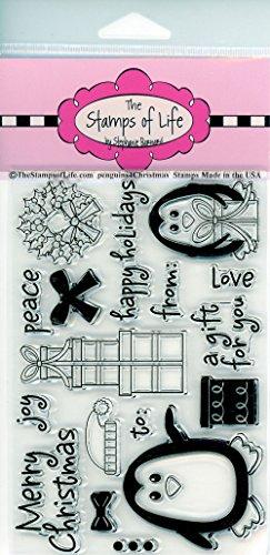 Die Briefmarken Of Life penguins4christmas Briefmarken für Karte machen und Scrapbooking Supplies von Stephanie Barnard-niedliche Pinguine Presents und Sentiments