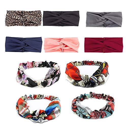 4 delle modern style vintage turbante fasce ritorto, fascia capelli donna accessori moda fiocco un set da 6 fasce elastiche per ragazza