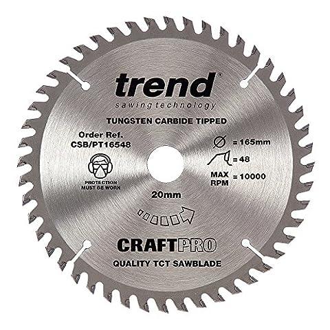 Trend CSB/PT16548 165 mm x 48 Teeth x 20 mm Craft Pro Saw Blade - Silver