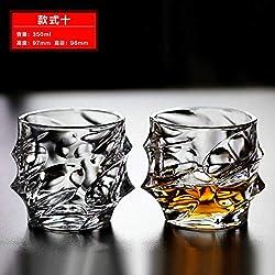 Luxury glass Coupe en Verre De Whisky en Cristal, Tasse À Vin, Tasse À Jus, Tasse À Lait, Tasse À Thé, Tasse À Bière, [2 Prix] Waves