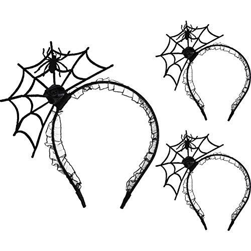 Gejoy 3 Stücke Halloween Spinne Stirnbänder Cosplay Party Hairband Verkleiden Haar Schmuck Party Lieferungen