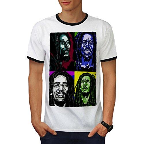Bob Marley Sänger Berühmt Star Herren L Ringer T-shirt | Wellcoda (Berühmte Streifen Stars Shirts)