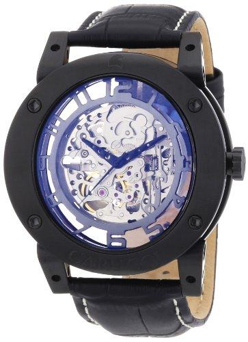 Carucci Watches CA2207BK - Orologio da polso uomo, pelle, colore: nero