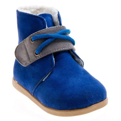 Little Blue Lamb Bottes rembourrées pour bébé Bleu Bleu - Bleu