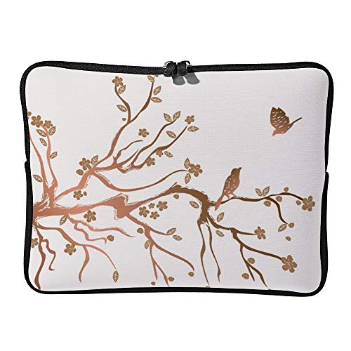 DKISEE Plum Flowers Blossom Laptop Sleeve Case Bag Cover Compatible 17 inches Notebook MacBook Air MacBook Pro - Hp-laptop-disney Cover
