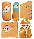 MY NEWBORN Baby Blanket & Baby Wrapper -Gift Hamper Value Pack - 5 pcs. Blanket wraps for babies