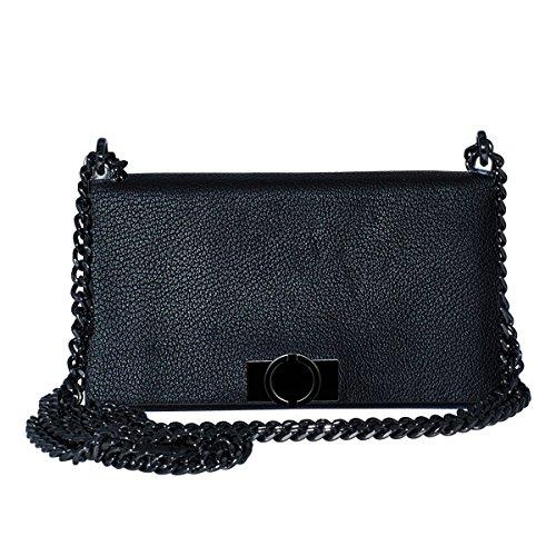 O.JACKY Premium iPhone 6/7 / 8 Hülle Leder zum Umhängen   2 in 1 Luxus Handyhülle, Etui für Apple   Handtasche Brieftasche mit Kartenschlitz Schutz vor Staub Case Cow Leather Black   Foldy 5 - Black Cow Geldbörse
