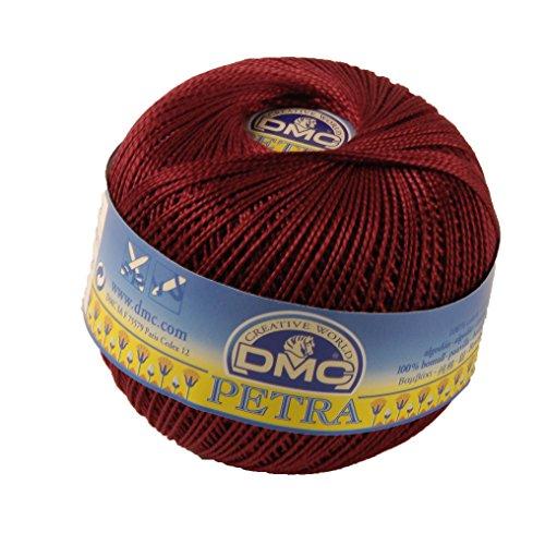Filo DMC Petra, 100% cotone, colore: rosso scuro, misura 3