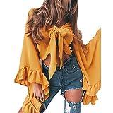 OSYARD Damen Mode Neue Tops Strap Batwing Sleeve T-Shirt beiläufige V-Ausschnitt Bluse,Heiß Frauen Plus Größen Flügel Hemd Arbeiten Oberseiten Hülsen Baggy Tunika