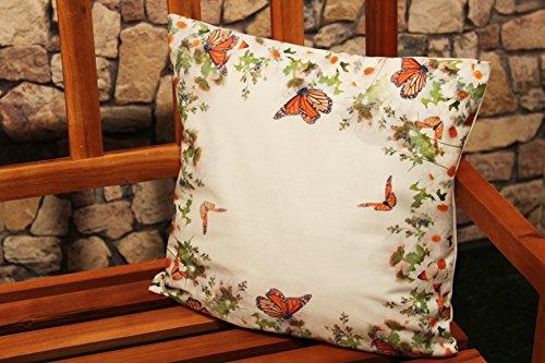 Kamaca Serie Butterflies Garden Druck-Motiv mit Schmetterlingen und Blumen EIN echter Eyecatcher Frühling Sommer (Kissenhülle 40x40 cm)