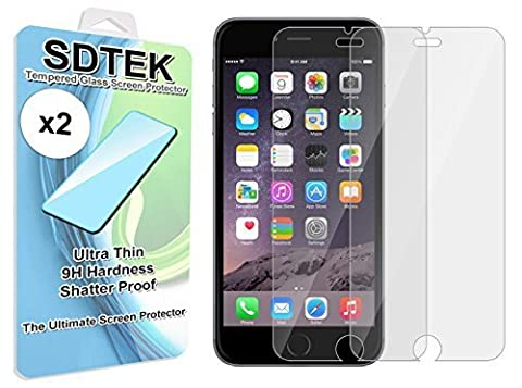 SDTEK 2 Pack iPhone 6s / 6 Verre Trempé Protecteur