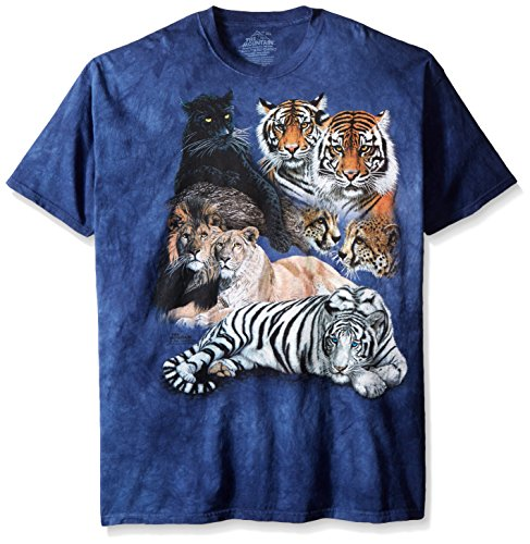 the-mountain-mens-big-cat-collage-t-shirt-blue-large