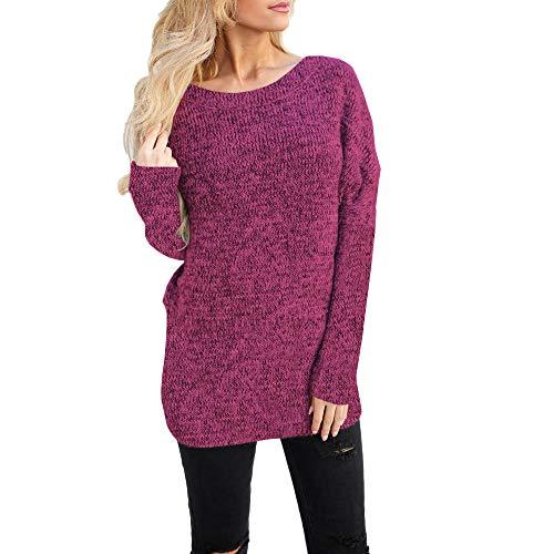 ITISME Damen Strickjacke Frauen Langarm Solid Sweatshirt Pullover Tops Bluse Shirt