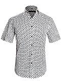 APTRO Hemd Herren Kurzarm Freizeit Hemd Klassische Punkten Baumwolle Mehrfarbig Blumen Shirt Sommer APT025 XL
