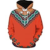 Sweatshirts Herren,SANFASHION HoodedMänner Kapuzenpullover Frauen Modus 3D African Print Langarm Paare Outwear Hoodies Top Bluse Shirts