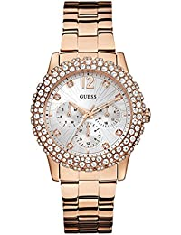Guess Analog White Dial Women's Watch - W0335L3