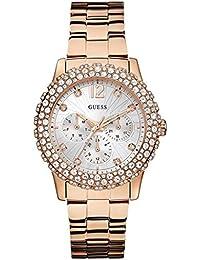 Guess Damen-Armbanduhr Dazzler Analog Quarz Edelstahl beschichtet W0335L3