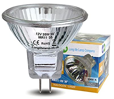 5 x MR11 35w Halogen Light Bulbs Lamp 12v by Long Life Lamp Company