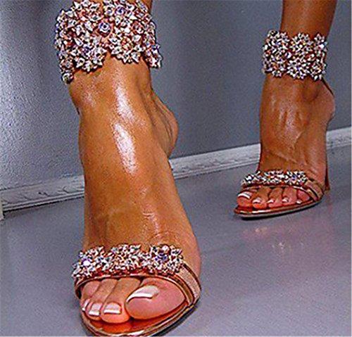 Dzw scarpe donna tacco tacchi / peep toe sandali / tacchi matrimonio / party & sera / vestito rose gold , 33 , goldti rende diverso