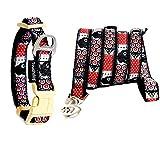 Treat Me Hundehalsband mit Leine Kreuzmuster Einmaliges Design Hund Halsband für Kleine Mittlere Große Hunde