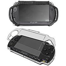 G-HUB® - Bundle con Caja de Cristal y Funda de Cuero Imitación para Sony PSP