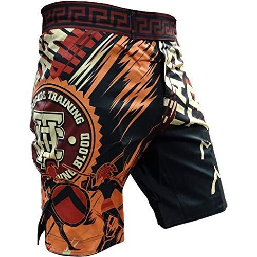 Hardcore-Training-Fight-Shorts-Mens-MMA-UFC-Cage-Grappling-BJJ-Muay-Thai-Kick-Boxing-Sparta-Black-MMA-Fitness