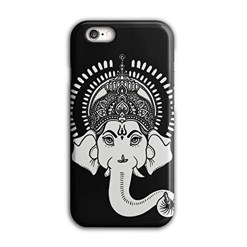 indisch Kunst Ganesha Hindu- Weiß iPhone 6 / 6S Hülle | (Männliche Indische Kostüm)
