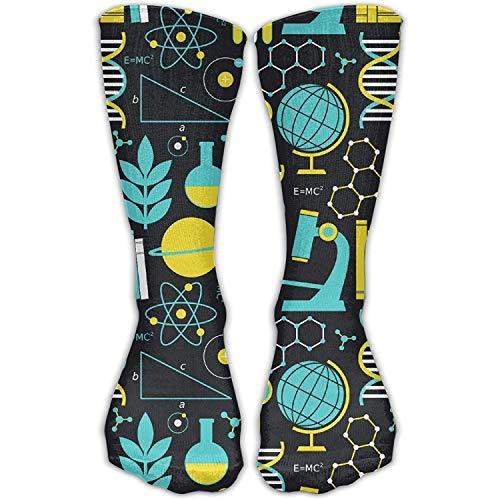 Bgejkos Science Math Physical Chemical Biology Novelty Cotton Crew Socks Fashion Ankle Dress Socks for Men&Women Long: 19.6inch one Size -