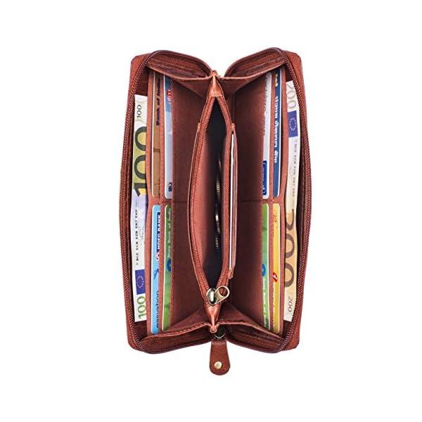 STILORD 'Saskia' Cartera Mujer Piel con Bloqueo RFID Monedero Billetera para Damas señoras Cartera Vintage para Tarjetas…