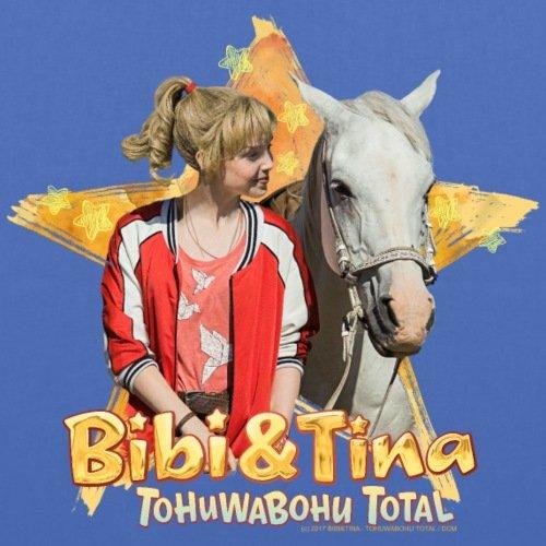 Spreadshirt Bibi E Tina Tohuwabohu Total Sabrina Borsa In Tessuto Azzurro