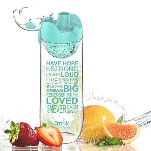 Artoid Mode Trinkflasche mit Einsatz | 1l | Wasserflasche mit Fruchteinsatz/Sieb | Tritan Flasche, BPA frei, auslaufsicher | Sportflasche für aromatisiertes Wasser, ideal für Yoga, Reise & Sport