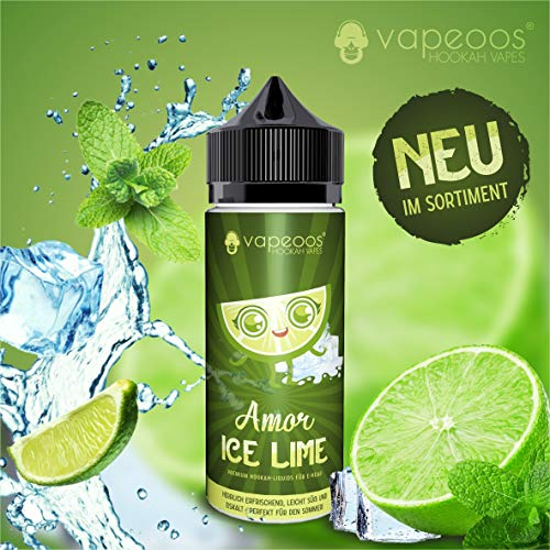 Vapeoos Premium E-Liquids/Liquido   Amor I Ice Limette/Ice Lime   50ml für E-Zigaretten und E-Shishas   0mg (ohne Nikotin) i Made in Germany!