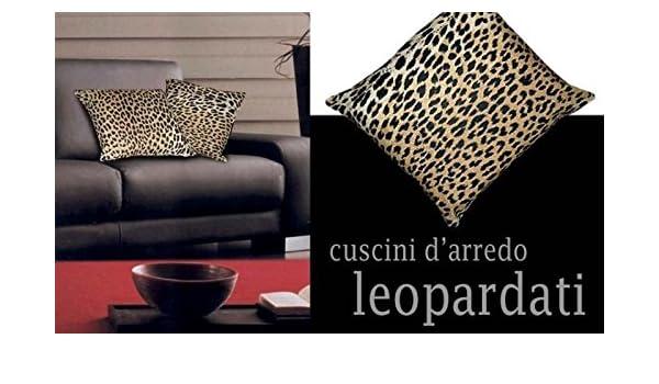 Cuscini Leopardati.Confezioni Giuliana Coppia Cuscini D Arredo Maculati Maculato