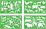 Quercetti Zeichenschablonen Tiere
