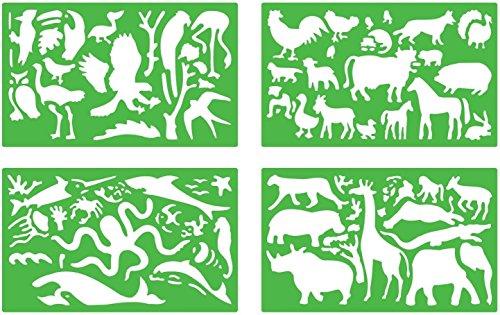 quercetti-13-2602-loisirs-creatifs-set-de-4-pochoirs-des-animaux