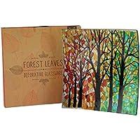 AUTUMN LEAVES, motivo foglie, colore: vetro decorativo