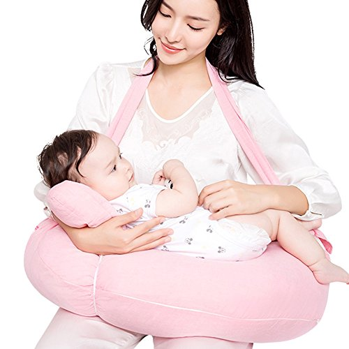 QFFL Nourrir les oreillers jumeaux alimentation artefact allaitement oreiller femmes enceintes oreiller corps oreiller 6 couleurs disponibles 60 * 48 cm Oreillers d'alimentation (Couleur : D)
