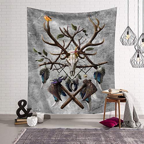 mmzki Mode Coole Tiere Tapisserie Wandbehang Wolf Eule Gedruckt Makramee Tapisserie Hexerei Hippie Dekorative Polyester Schal pad 9 150x130 cm -