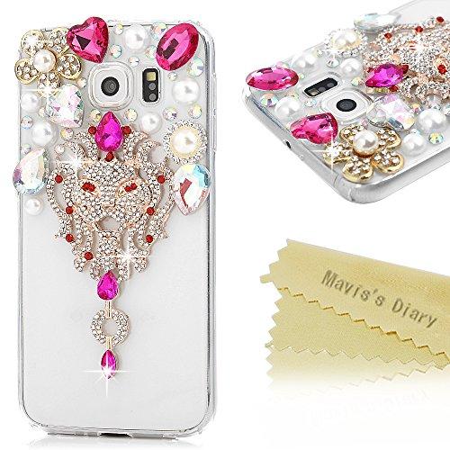 Mavis's Diary Coque iPhone 5/iPhone 5S/iPhone SE PC Rigide Transparent Bling Strass Renard Housse de Protection Étui Téléphone Portable Phone Case Cover+Chiffon style 1