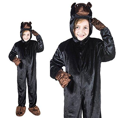 Gorilla Affe Dschungel Kinderkostüm Einteiler (Affe Dschungel Kostüme)