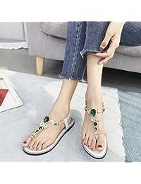 YMFIE Dolce estate casual moda confortevole strass pizzico flat open toe sandali da donna all'aperto vacanza scarpe...
