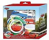 Cars Disney´s Melamin Frühstück-Set 3-teilig im Geschenkkarton mit Sichtfenster Teller Müslischale & Trinkbecher