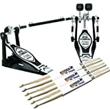 Tama HP600DTW Iron Cobra Duo Glide Doppelfußmaschine + 3 Paar KEEPDRUM Drumsticks GRATIS!