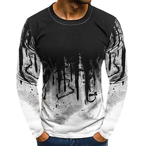 T Shirt Mens Long Sleeve Top Cas...