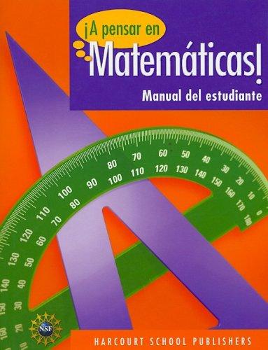 SPA-HARCOURT SCHOOL PUBLS PENS (Span Nsf Pensar/Math 09) por HSP